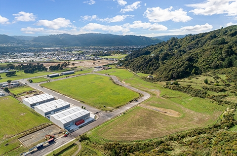 Business land development in Upper Hutt