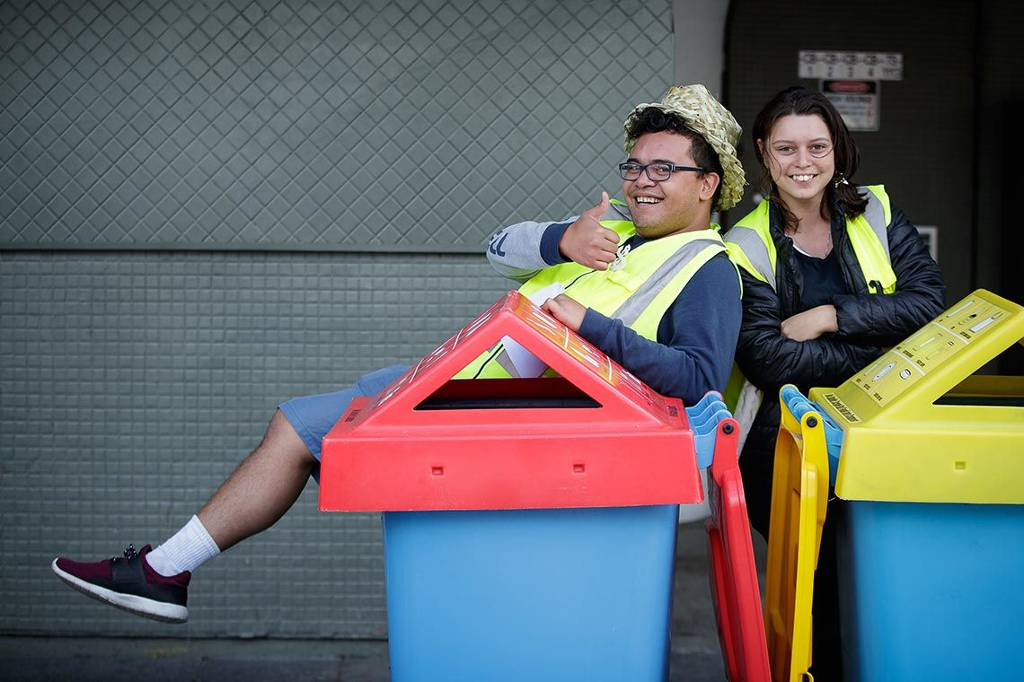 waste minimisation team