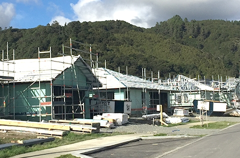 Building in process of being completed in Upper Hutt