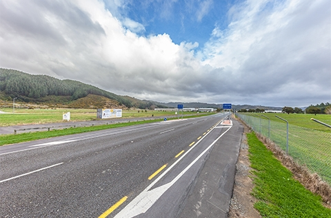Long road in Upper Hutt