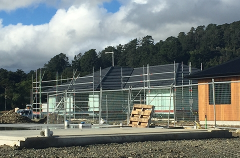 Building a home in Upper Hutt in construction phase