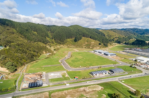 Aerial view of Upper Hutt industrial area